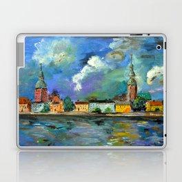 A Night of Color in Riga Laptop & iPad Skin