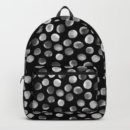 White Watercolor Dots Backpack