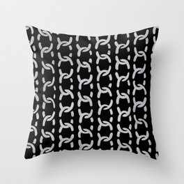 decorative chain ornament pattern Throw Pillow