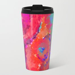 Floral abstract (73) Travel Mug