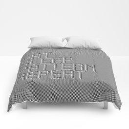 Eat Sleep Pattern Repeat Comforters