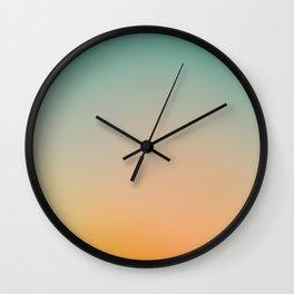 Sunset Blur 1 Wall Clock
