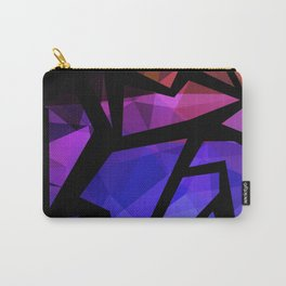 Abstract print of triangles polygon print. Bright dark design colors Carry-All Pouch