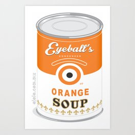 eyeball's soup Art Print