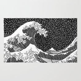The wave of Hokusai Rug