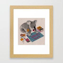 Prof Koala Framed Art Print