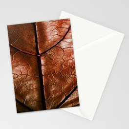 MACHO MANS ART OLD LEATHERY BROWN LEAF Stationery Cards
