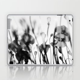 Black and White Poppies Laptop & iPad Skin