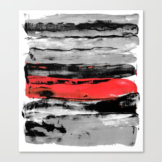 black & red Canvas Print