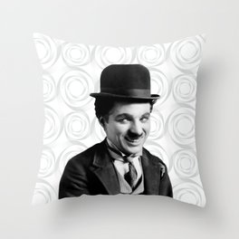 Charlie Chaplin Old Hollywood Throw Pillow