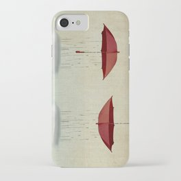 embracing the rain iPhone Case