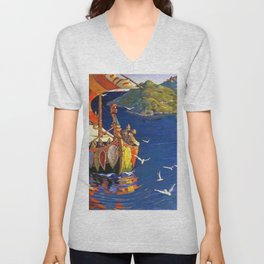 Nicholas Roerich - Guests From Overseas - Digital Remastered Edition Unisex V-Neck