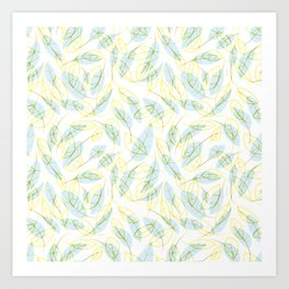 Wind and feathers Art Print