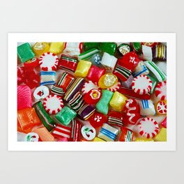 Colorful candy mix Art Print