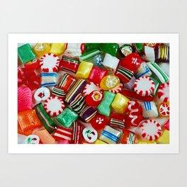 Colorful candy mix Art Print