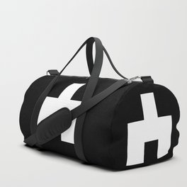 The Baxter's balaclava glyph on Black Mirror Duffle Bag