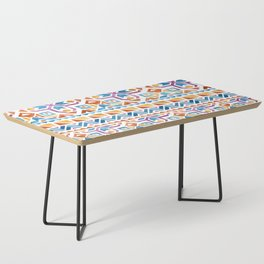 Geometric colorful Watercolor Pattern Coffee Table