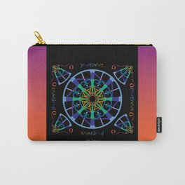 Imagine from the Inside - Black/Orange Pink Carry-All Pouch