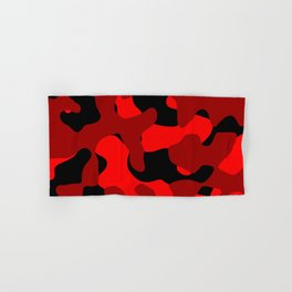 Black and Red Camo abstract Hand & Bath Towel