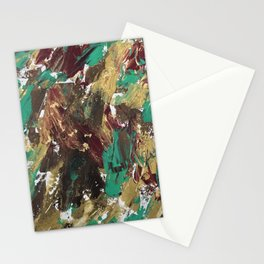 Golden strokes Stationery Cards
