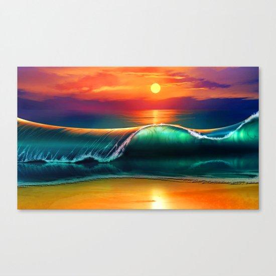 Beauty wave I Canvas Print