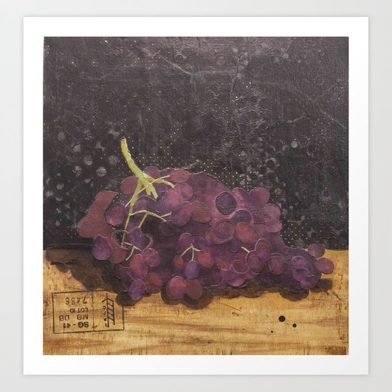 A bunch of grapes Art Print