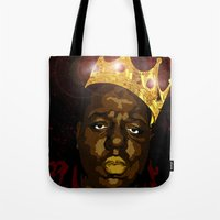 notorious Tote Bags featuring Notorious by PeacexLovexAnimate
