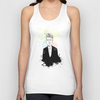 david lynch Tank Tops featuring David Lynch by suPmön