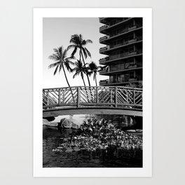 Palm Tree Noir #75 Art Print