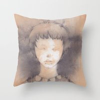 lucy Throw Pillows featuring Lucy by Shiro