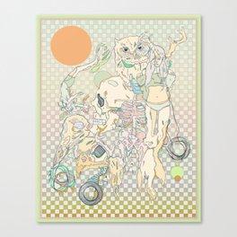 decay, cream & color  Canvas Print