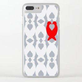 Love Birds Pattern Clear iPhone Case