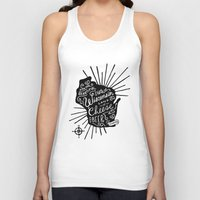 wisconsin Tank Tops featuring Wisconsin Pride by Jessica Roush