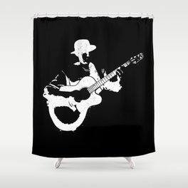 Musician playing Shower Curtain