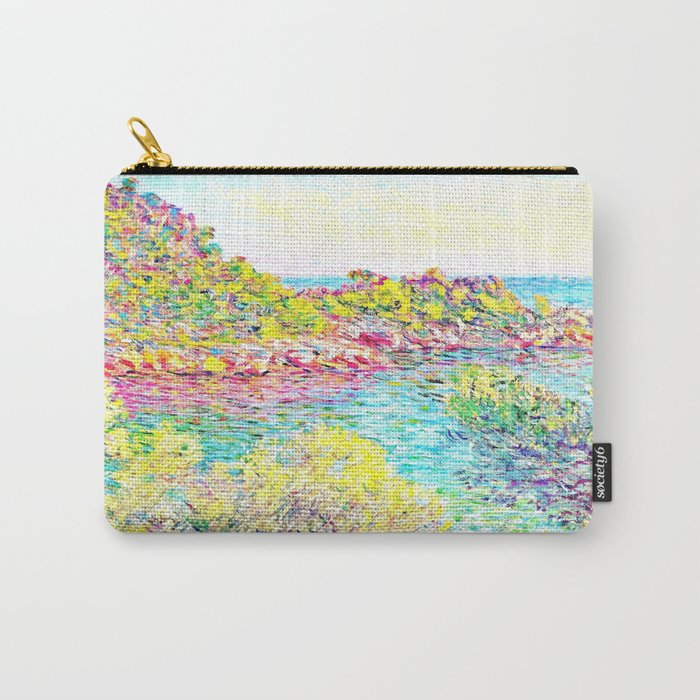 Monet Landscape Near Montecarlo Carry All Pouch By