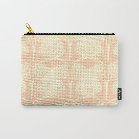 ginkgo leaf pattern in vintage pink Carry-All Pouch