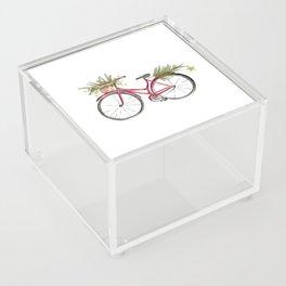 Red Christmas bicycle Acrylic Box