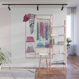 Watercolour Clothing Rack Wall Mural