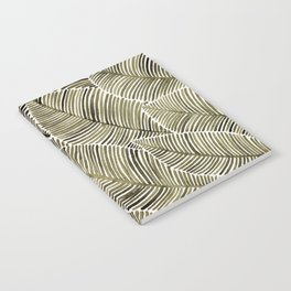 Tropical Leaves – Taupe Palette Notebook