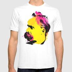 Friedrich Wilhelm Nietzsche Mens Fitted Tee White MEDIUM