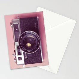 #04_Yashica electro 35#pink#film#effect Stationery Cards