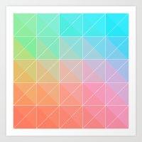 gradient Art Prints featuring Gradient by Fimbis