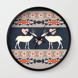 Romantic deer Wall Clock
