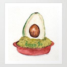 Avocado Dip Art Print