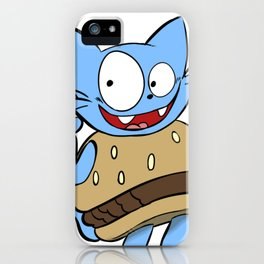 Hamburger Cat iPhone Case