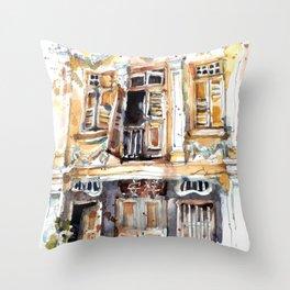 Windows of Keong Saik Throw Pillow
