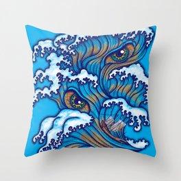 Spirit of the waves Throw Pillow