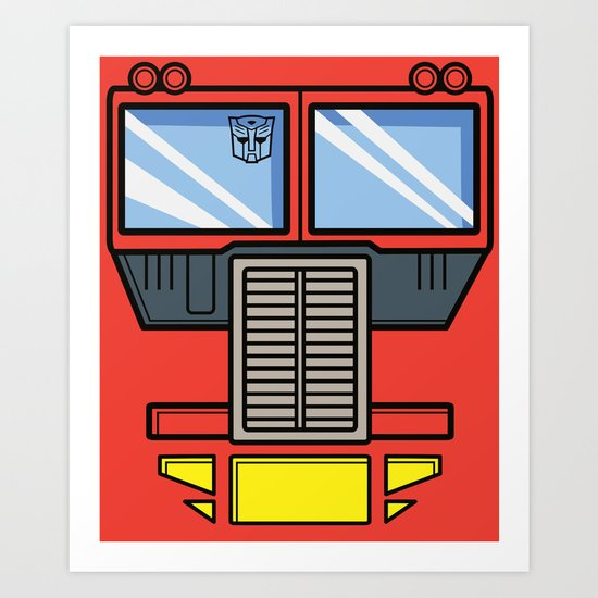 Transformers - Optimus Prime Art Print