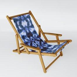 Blue Oxford Shibori Sling Chair