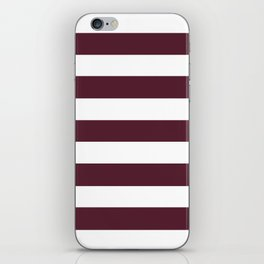 Light chocolate cosmos - solid color - white stripes pattern iPhone Skin